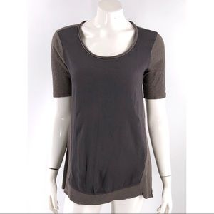Left Of Center Anthropologie Tunic Top Small Brown
